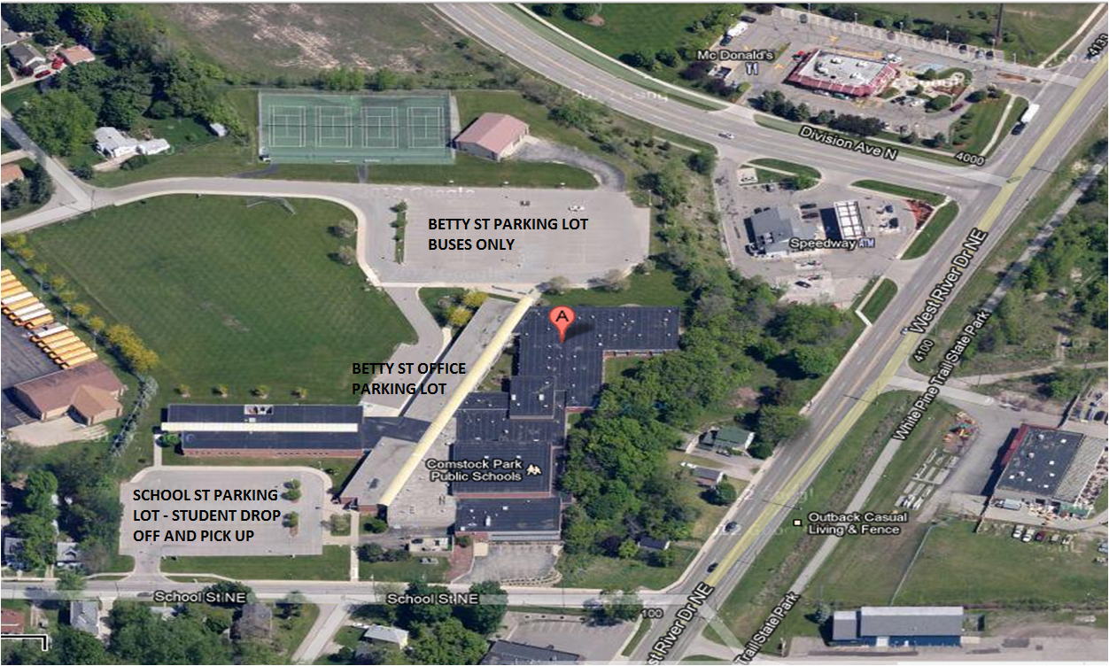 location of middle school parking lots